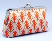Grand Opening SALE - Orange Trees - Large Clutch Purse (L-080)