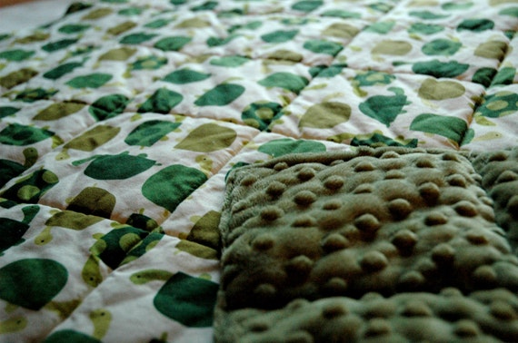 "TURTLES Quilted Baby Blanket 36""x36"""