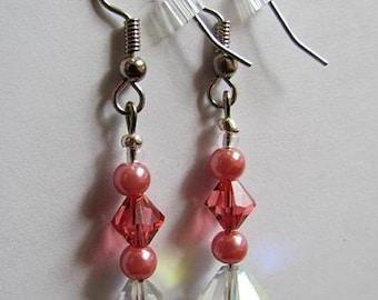 Crystal Rose Earrings