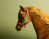 Pink and Blue Ribbon halter