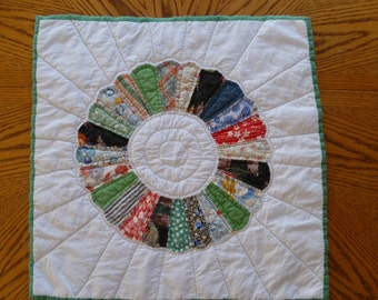 Repurposed Dresden Block Quilt