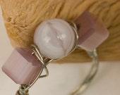 Pink Tiger Eye Ring
