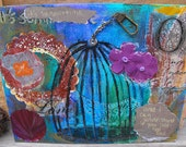 Its Summertime: Mixed Media Original on Canvas