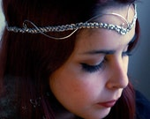 RESERVED LISTING (for kerriroland) Celtic Silver Headpiece Tiara Circlet