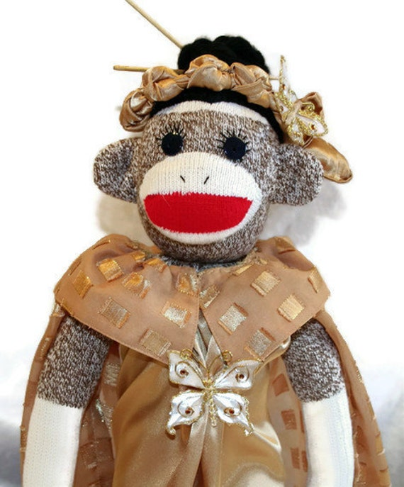 Madam Butterfly Sock Monkey Opera Diva