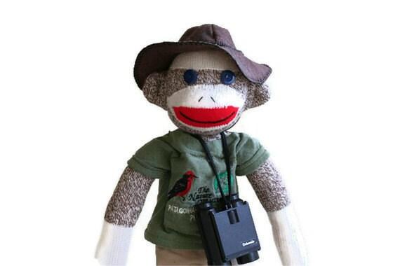 Eddie, Sock Monkey Birder Extraordinaire