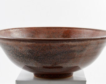 Stoneware Bowl Wheel Thrown Ohata Khaki