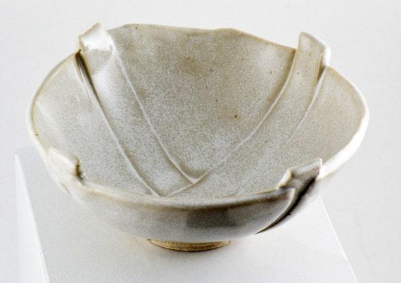 Bowl Handbuilt Stoneware - Off White