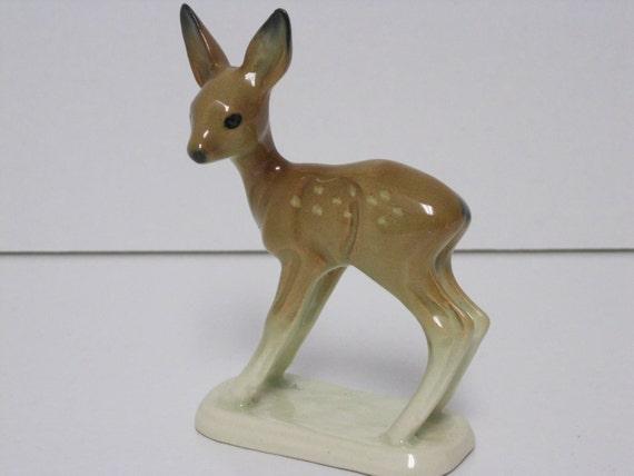 Porcelain fawn figurine