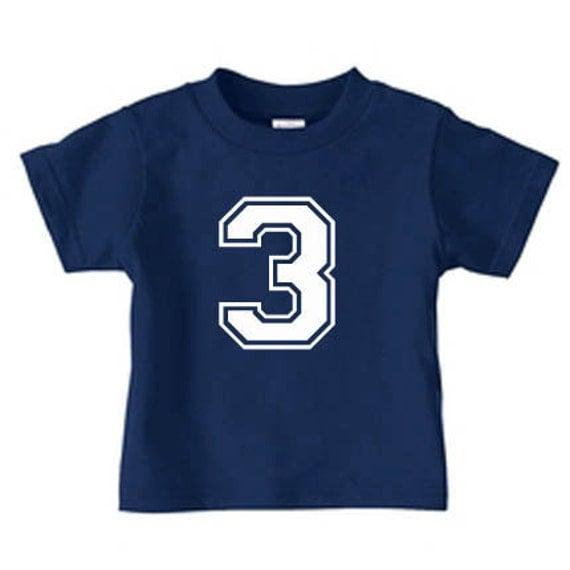 Boy Birthday Shirt Number Shirt Birthday Tees Sports Birthday