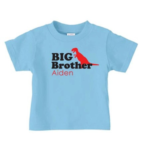 Personalized big brother dinosaur t-shirt, Sibling t shirts