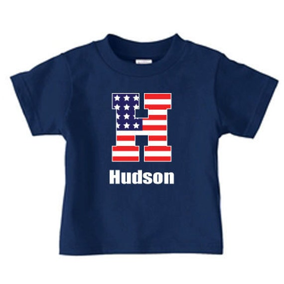 Items Similar To Personalized 4th Of July Flag Initial T