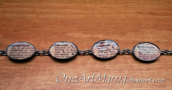 Custom Dictionary Bracelet for kawellington