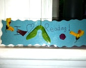 One BookMark from Nature - Made by a kid and named  Blossom