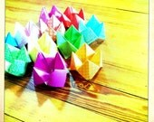 Origami Fortune Teller , Cootie Catchers, colorful, pick from a lot of colors , made by a kid