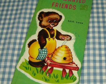 SALE the little bear who wanted friends, vintage 1962 children's book