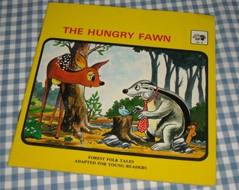the hungry fawn, vintage 1984 children's book