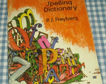 first spelling dictionary, vintage 1979 children's reference book