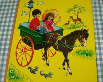 at the children's zoo, vintage 1960s children's book