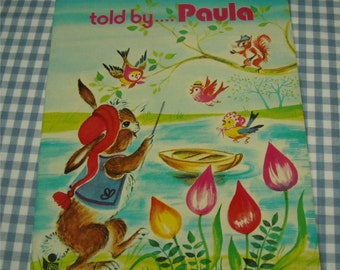 bedtime storybooks told by paula, vintage 1970s children's book