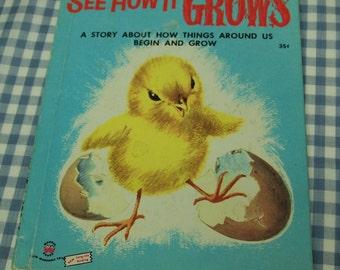 see how it grows, vintage 1954 children's wonder book