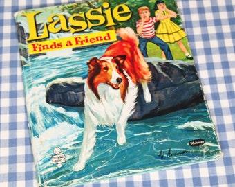 lassie finds a friend, vintage 1960 children's book