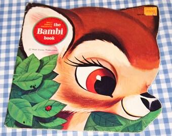 The bambi book, vintage 1980 children's golden shape book