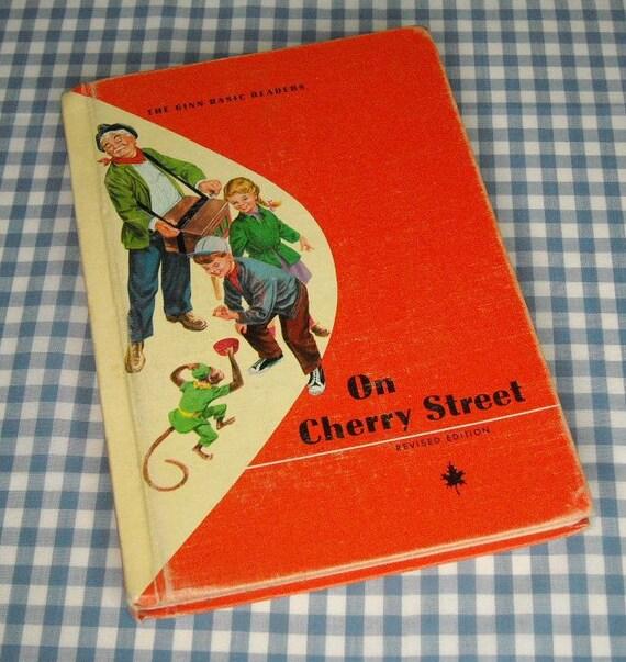 on cherry street, vintage 1960s children's school reader