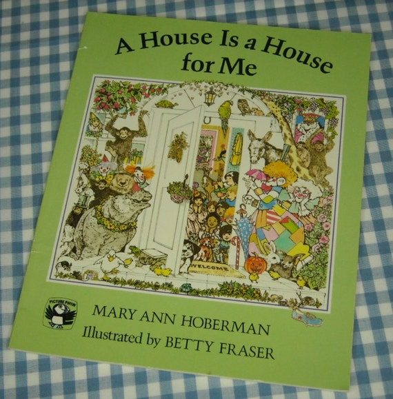 a house is a house for me, vintage 1982 children's book