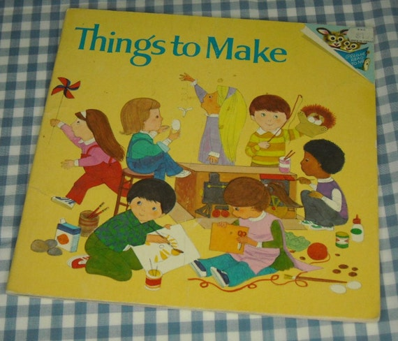 things to make, vintage 1978 children's craft book