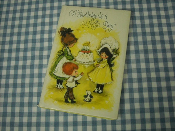 a birthday is a magic day, vintage 1968 mini children's gift book