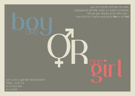 Custom Order for Jessie Goodloe - Gender Reveal Party Invitations