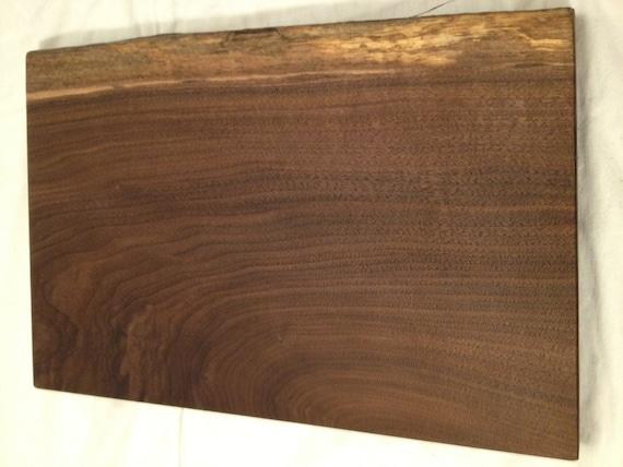 Wooden Cutting Board - Black Walnut - Live Edge
