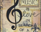 Music is love, in search of a word - Art Print - Available in three sizes