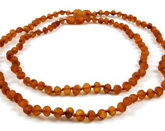 Raw Baby Teething NATURAL BALTIC AMBER necklace for Baby and Mommy