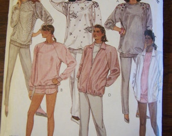 1987 McCalls pattern 3233 misses jacket, top, pants, shorts size M