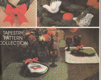 Christmas Crafts vintage sewing pattern Avon McCall's 5380