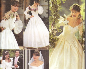 """sewing pattern """"Style Your Own"""" 2693 wedding gown bridal dress size 8-18"""