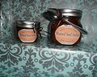 Body Scrub 4oz.- Sugar scrub - Cinnamon with Vitamin E & Tea Tree Oil