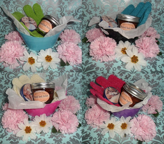 Christmas, Body Gift Set, Scrub, Bath Mit, Body Cream, Last Minute, Mother's Day, Bridesmaid, Teacher, Father's Day