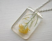 Yellow Flower Resin Necklace
