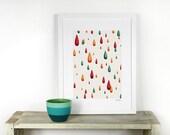 Colorful rain A4