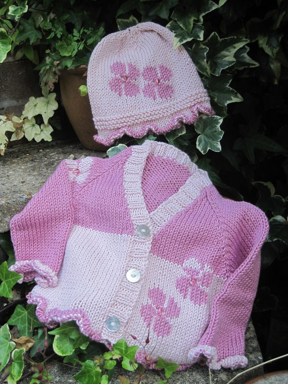 BABY KNITTING PATTERN in pdf Flower Baby Babys