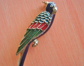 Multi Color Enamel Bird Brooch Enamel & Rhinestone