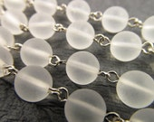3 Ft Vintage 7mm Matte Crystal Lucite Chain Ch68