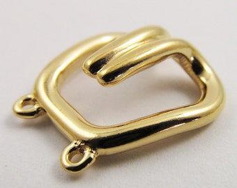2 Vintage 20x19mm Gold-Plated Two Strand Trifari Hooks Cl26