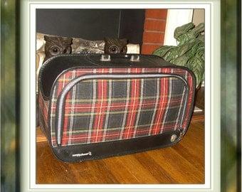 Vintage Weekender Luggage in Red Plaid by Grasshopper