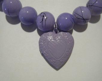 Purple Heart Locket Bracelet