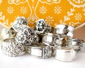 RESERVED Wholesale Lot of 12, Silverplated Vintage Spoon Rings