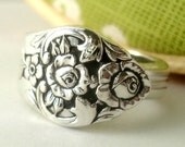 Silver Spoon Ring, Size 7, Plantation 1948